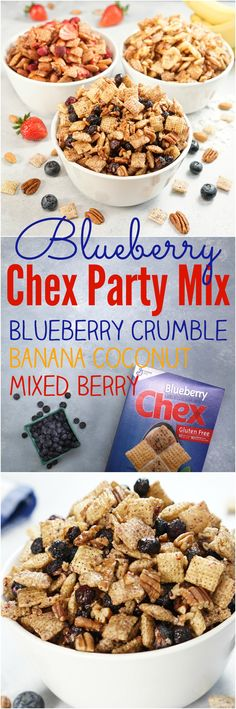 Blueberry Chex Party Mix: 3-Ways