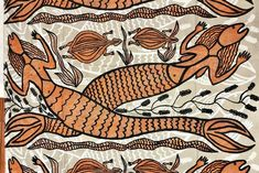 Indigenous mermaids - A painting by Sonya Namarnyilk, depicting Arnhem Land's fresh water mermaids known as Yawk Yawks. The freshwater Yawk Yawks, known as Ji-Merdiwa, are more sacred and can't be represented in artworks. The Ji-Merdiwa play an important role in looking after sacred sites, and if people don't look after the land then the mermaids will bring sickness to them.