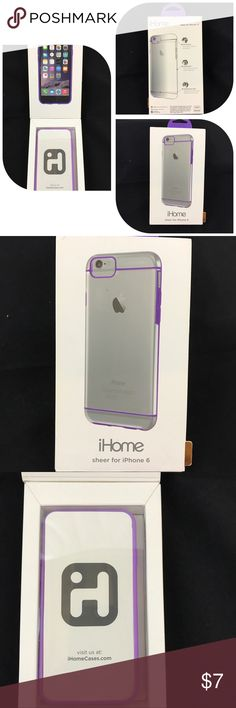 iPhone 6 Sheer Cover Case NIB New iPhone 6 Sheer Cover. Protects phone from dings and scratches. Full access to screen buttons and camera. Ergonomic grip prevents phone from slipping. iHome Accessories Phone Cases
