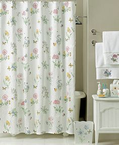 "Lenox ""Butterfly Meadow"" Bath Collection - Shower Curtains & Accessories - Bed & Bath - Macy's"