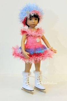 "R&M DOLLFASHION-OOAK WINTER LINE outfit for LITTLE DARLING EFFNER 13"" dolls"