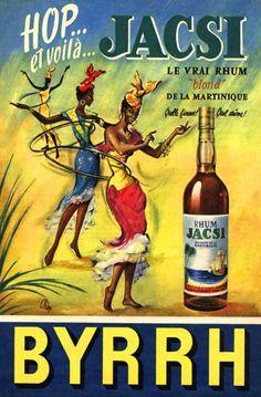 vintage ad for Jacsi rum, 1950s
