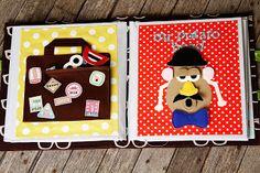 Quiet Book Page Ideas. Suitcase and Mr. Potato Head.