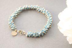 Gold Bracelet Flower Girl Gift Personalized by SarahOfSweden