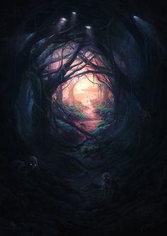 Goblins in a dark forest