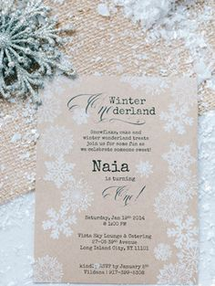 rustic snowflake inspired winter wedding invitations 2014