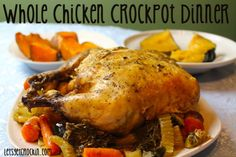 Simple whole chicken crockpot recipe. If you want to cook an entire chicken in your slow cooker, this recipe will give you the instructions!