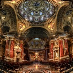 St. Stephen's Basilica (Budapest, Hungary), named after Hungary's first king, Stephen I (c. 975–1038). The basilica was completed in 1905 ~ (HDR photo by Filip Nystedt)