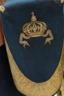 ENSEMBLE D'OFFICIER D'ORDONNANCE DE L'EMPEREUR NAPOLEON III : TAPIS DE SELLE, FONTES, COUVRE-FONTES DE GRANDE TENUE, COUVRE-FONTES DE PETITE TENUE; SECOND EMPIRE. (5)