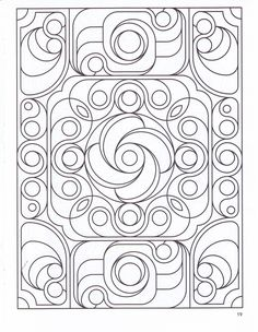 deco tech coloring page the uncolored version