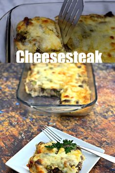Keto Low-Carb Philly Cheese Steak Casserole is a quick and easy steak dinner recipe with sirloin steak, cream cheese, green bell peppers, and mushrooms. This is the best steak marinade recipe and you can also use flank steak if you wish. Steak Dinner Recipes, Beef Recipes, Cooking Recipes, Diabetic Dinner Recipes, Easy Low Carb Recipes, Cream Cheese Recipes Dinner, Keto Recipes Dinner Easy, Paleo Casserole Recipes, Steak Dinners