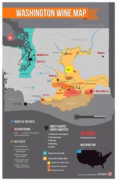 Washington Wine Map..sweet!! @Karryn Reed Laro Polson