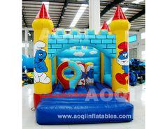 smurfs castle [AQ561smurfs]#inflatableCastles www.aoqiinflatables.com