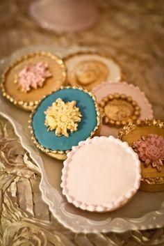 Gilded cookies
