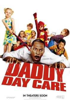 """""""Daddy Day Care""""(2003).Directed by Steve Carr.Starring: Cuba Gooding, Eddie Murphy, Jeff Garlin. It's an American comedy. Charlie and his former colleague Phil are looking after their children while their wives are at work. One day the bright idea to combine employment and caring for the sons came to Charlie's mind. He offers to open a kindergarten """"Fathers Day Care"""".  Recommended age-6+"""