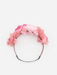 Обруч із квітками й еластичною пов'язкою, RESERVED, ZK390-30X