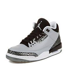 Nike Jordan Men's Air Jordan 3 Retro Wolf Grey/Metallic Silver/Blck/Wht Basketball Shoe 9.5 Men US USD 170.00