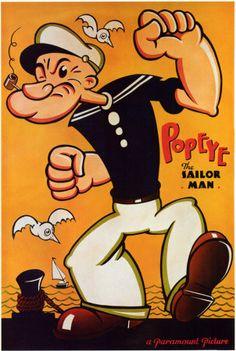 Popeye the Sailor Man Ensivedos AllPosters.fi-sivustossa