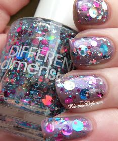 Pointless Cafe: Different Dimension - Wish You Were Here super glittery different nail polish