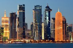 City of Lights - Al Dafna a seaside district of Doha capital of Qatar located on the Arabian Gulf the district is currently rapidly developing into a central business district and since the late 1990s dozens of skyscrapers have risen in the district with over fifty more planned. The district is also home to the City Center mall one of the Middle East's largest malls.