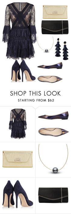 """Untitled #189"" by alaska-dafne on Polyvore featuring self-portrait, Nina Ricci, Christian Louboutin, Gianvito Rossi, Diana Ferrari and BaubleBar"
