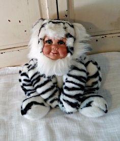 Ark Babies Porcelain Doll | Zebra or Tiger | Artist Dolls