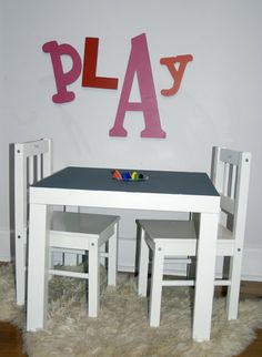 DIY: Chalkboard Table | nooshloves