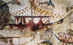Minoan Traders In A Bronze Age Wall Painting From Acrotiri Santorini