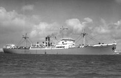 MV English Prince built by Wm Doxford & Sons for Prince Line & completed 04/43. 7,275GRT, length 443ft, beam 56.5ft. She was sailing independent in the Indian Ocean for extended periods in '43 & '44  & was in Australian waters in late '45 .'53 chartered to Shaw Saville & Albion(retained Prince livery). '57 back to Prince Line. '61 sold to amanda Shipping, Monrovia & renamed MV Simos. 22/07/72 ran aground near Cape St Vincent. Refloated but condemned. Scrapped at Bilboa in '73