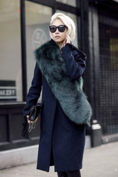 An Incredibly Chic Way To Wear A Fur Scarf | Bloglovin' Fashion | Bloglovin'
