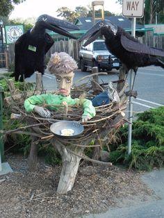 """Each October, Cambria hosts a """"scarecrow festival""""."""