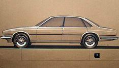 OG   Jaguar XJ40 sketch from Roger Zrimec