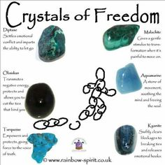 Crystals for freedom