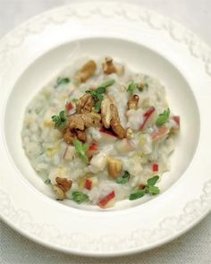 Apple, Walnut and Gorgonzola VEGGIE RISOTTO by Jamie Oliver