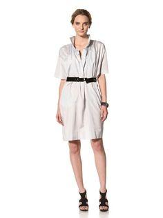 80% OFF MARNI Women\'s Short Sleeve Gathered Dress (Pale Blue)