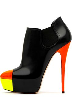 Casadei - Boots Black & Neon colours