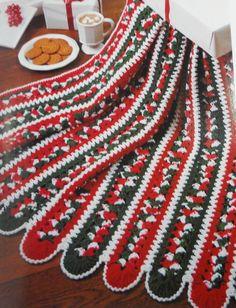 Christmas Crochet Afghan Blanket