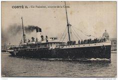"""Le """"Corte II"""", courrier de la Cie Fraissinet"""