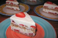 Strawberry Shortcake *RAW*, made using the almond pulp leftover from homemade almond milk!
