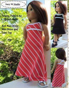 Knit Maxi Dress, Mini Dress and Top PDF Pattern by SuzyMStudio
