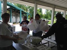 More of our volunteers enjoying some Chik Fil A!  #MidwestSalute