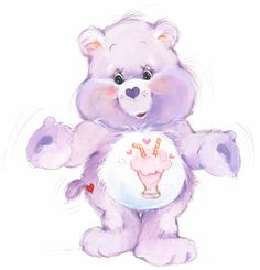 Share Bear in the 80s I guess the new one has two lollipops instead of a milkshake and two straws? how is that sharing if you have two!