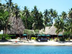 This beautiful resort on the island of Vanua Levu, Fiji, is owned by none other than Jean-Michel Cousteau.