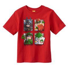 Boys 4-7 LEGO DC Comics Batman Heroes & Villains Graphic Tee, Size: 5-6, Red