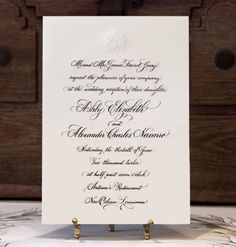 Scriptura - Traditional Calligraphy Wedding Invitation