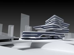 Zaha Hadid Design - This cluster of Zaha Hadid design innovations is a must-see for anyone who appreciates art, design, fashion or architecture. Zaha Hadid Buildings, Zaha Hadid Architecture, Futuristic Architecture, Facade Architecture, Concept Architecture, Modern Buildings, Contemporary Architecture, Amazing Architecture, Zaha Hadid Design