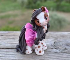 Anastasia - wee pony 2019 (custom order) You are in the right place about easy Polymer Clay Crafts Here we offer you the most beautiful pictures about the Polymer Clay Crafts anime you are looking for Easy Polymer Clay, Polymer Clay Christmas, Polymer Clay Sculptures, Polymer Clay Animals, Polymer Clay Charms, Polymer Clay Creations, Sculpture Clay, Diy Clay, Clay Crafts