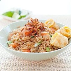 Indonesian-Style Fried Rice (Nasi Goreng) Great recipe for leftover rice. There are a few prep steps, but once everything goes in the pan, it is ready fast!