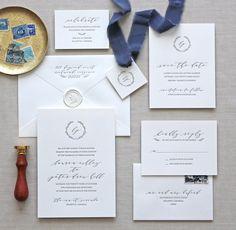 Letterpress wedding invitations // Serenbe design // CHATHAM & CARON letterpress studio / Letterpress Invitations, Letterpress Wedding Invitations, Classic, Modern, Calligraphy, Wedding Invitations, Elegant, Monogram Invitation, Script, Pretty, Timeless, Affordable, Calligraphy, Vintage