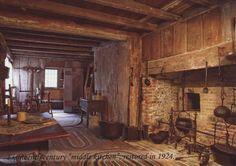 18th century american house kitchen